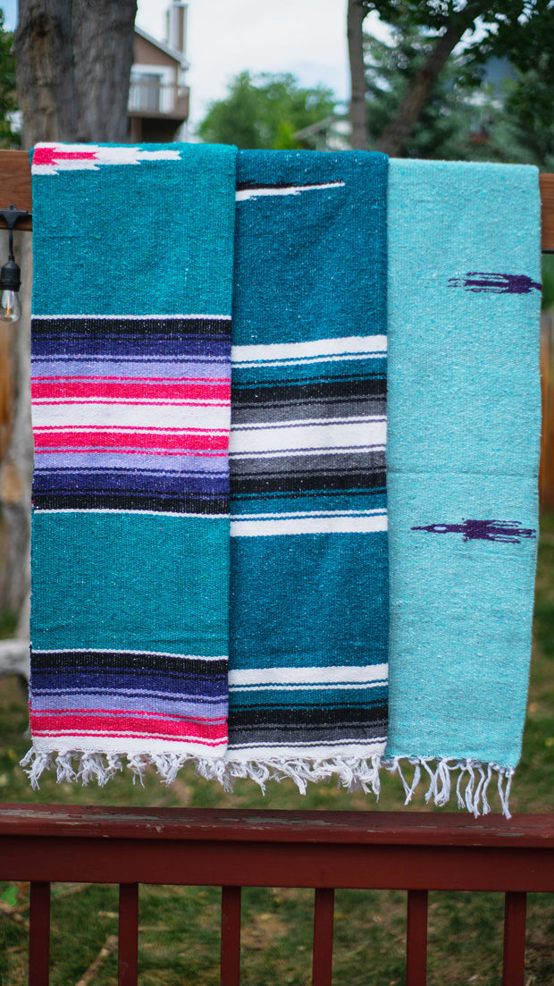 Baja Diamond Dog Blanket in Blue, Blankets, West Path, - Winnie Lou - The Canine Company