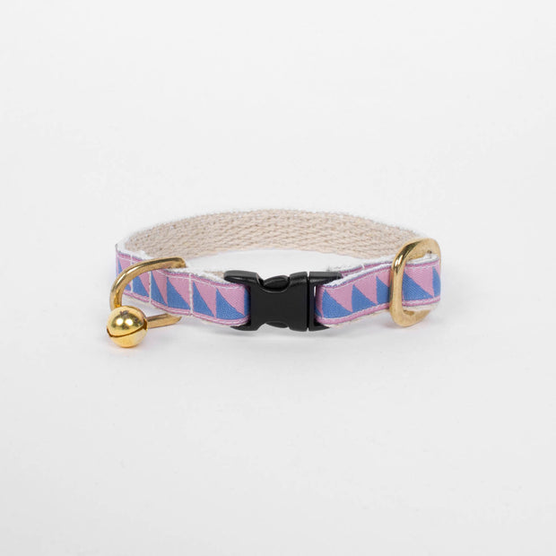 Cat Collar in Blush & Lake Blue, Cat Collar, See Scout Sleep, - Winnie Lou - The Canine Company