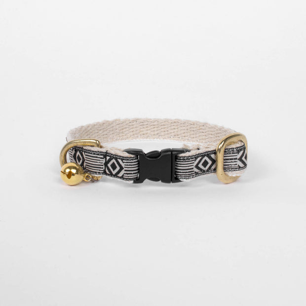 Cat Collar in Black & Cream, Cat Collar, See Scout Sleep, - Winnie Lou - The Canine Company