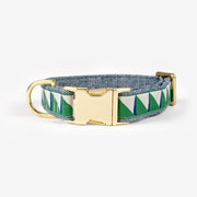 Nice Grill Collar in Emerald, Navy & Cream, Collars, See Scout Sleep, - Winnie Lou - The Canine Company