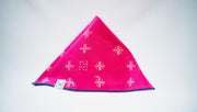 EXCLUSIVE Magenta Mudcloth Dog Bandana, Bandanas, Luck of Tuck, - Winnie Lou - The Canine Company