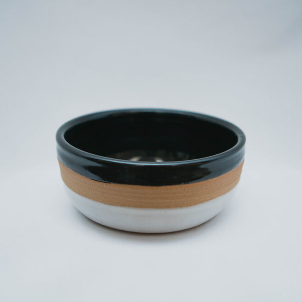 Ceramic Dog Bowl in Black/White/Natural, Bowls, Laura Kotsmith, - Winnie Lou - The Canine Company