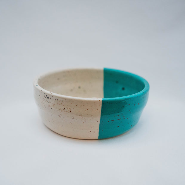 Ceramic Dog Bowl in Turquoise & Speckle, Bowls, Laura Kotsmith, - Winnie Lou - The Canine Company