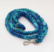 12mm Galaxy Rope Leash in Blue/Turquoise, Leashes, Jolly Hound, - Winnie Lou - The Canine Company