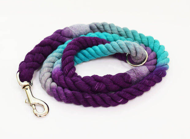 12mm Rope Leash in Grey, Ice Blue, & Deep Purple, Leashes, Jolly Hound, - Winnie Lou - The Canine Company