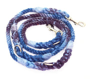 8mm Galaxy Double-ended Rope Leash in Ice Blue/Navy/Mulberry, Leashes, Jolly Hound, - Winnie Lou - The Canine Company