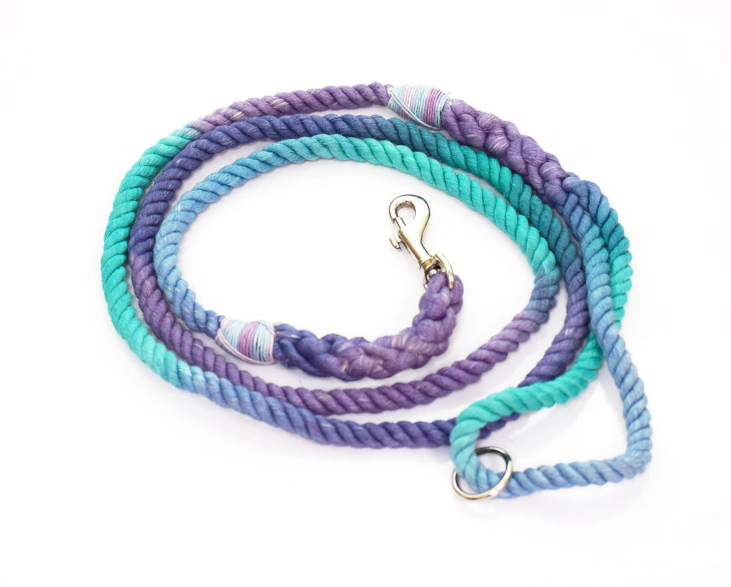 8mm Marble Rope Leash in Lavender/Aqua Green/Ice Blue, Leashes, Jolly Hound, - Winnie Lou - The Canine Company