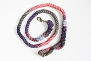 12mm Marble Rope Leash in Lavender, Grey, Baby Pink w/ Pastel String, Leashes, Jolly Hound, - Winnie Lou - The Canine Company
