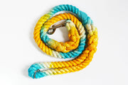 16mm Galaxy Rope Leash in Turquoise, Yellow & Natural, Leashes, Jolly Hound, - Winnie Lou - The Canine Company