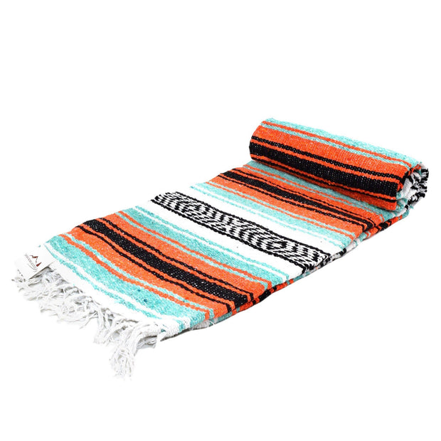 La Playa Dog Blanket in Mint & Orange, Blankets, West Path, - Winnie Lou - The Canine Company