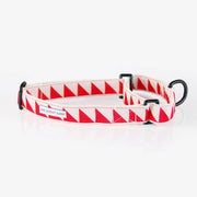 Nice Grill Martingale Collar in Cream & Vermillion, Collars, See Scout Sleep, - Winnie Lou - The Canine Company