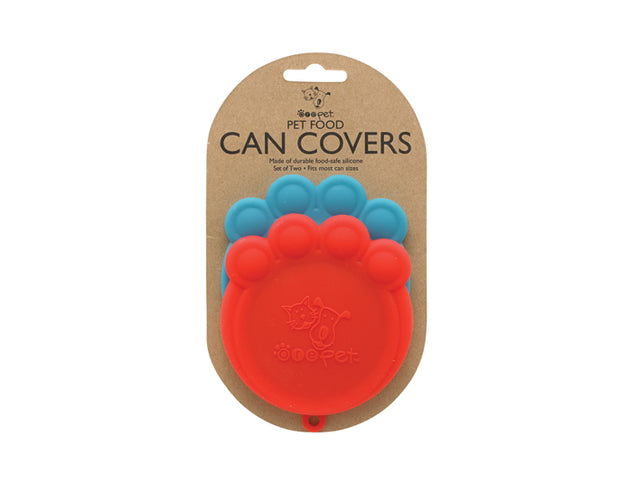 Pet Food Can Covers- Red & Blue, Food & Drink Neccessities, Ore Pet, - Winnie Lou - The Canine Company