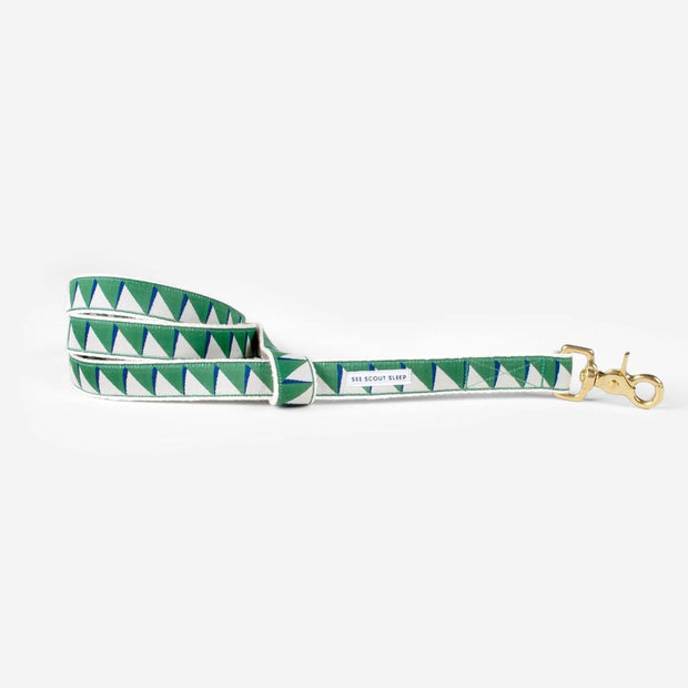 Nice Grill Leash in Emerald, Cream & Navy, Leashes, See Scout Sleep, - Winnie Lou - The Canine Company
