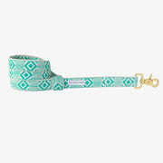 Out of My Box Leash in Teal & Cream, Leashes, See Scout Sleep, - Winnie Lou - The Canine Company
