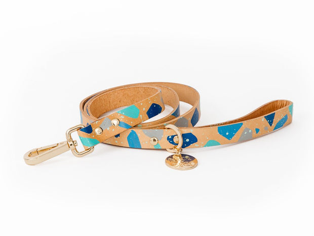 Terrazzo Dog Leash in Aqua, Leashes, Nice Digs, - Winnie Lou - The Canine Company