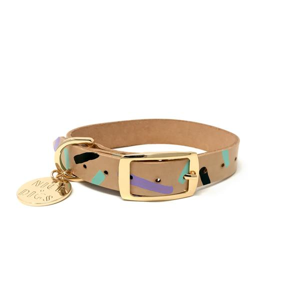 Tiggy Collar in Aqua Violet, Collars, Nice Digs, - Winnie Lou - The Canine Company
