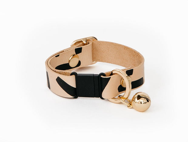 Tiggy Leather Cat Collar in Black, Cat Collar, Nice Digs, - Winnie Lou - The Canine Company