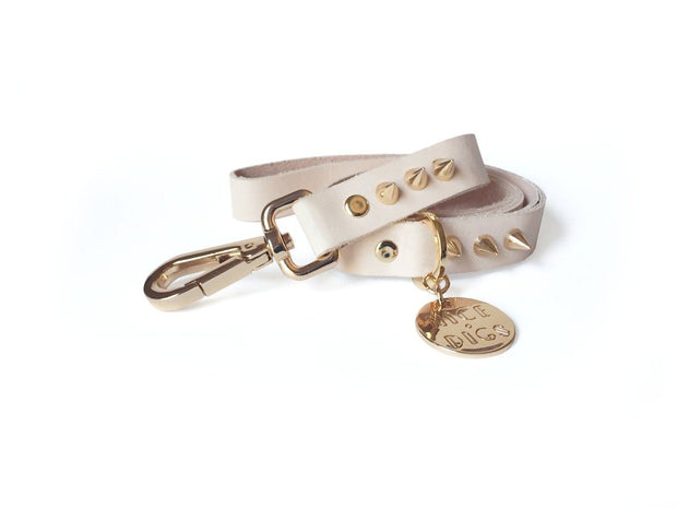 Spike Dog Leash in Gold, Leashes, Nice Digs, - Winnie Lou - The Canine Company