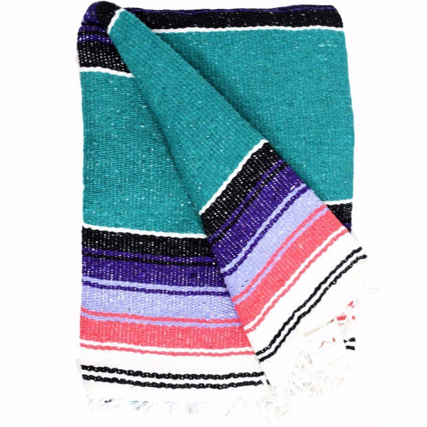Baja Diamond Dog Blanket in Turquoise/Coral/Purple, Blankets, West Path, - Winnie Lou - The Canine Company