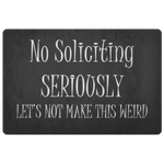 No Soliciting Doormat