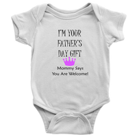 Fathers Day Gift Crown Onsie