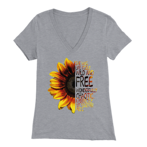 Wild & Free Sunflower VNeck