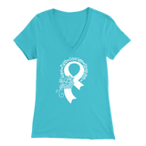 Hope Faith Awareness Ribbon VNeck