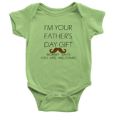 Father's Day Gift Mustache Onsie