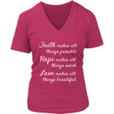 Faith Hope Love VNeck