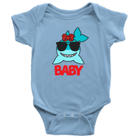 Baby Shark with Bow Onsie