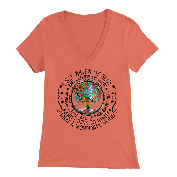 What A Wonderful World VNeck