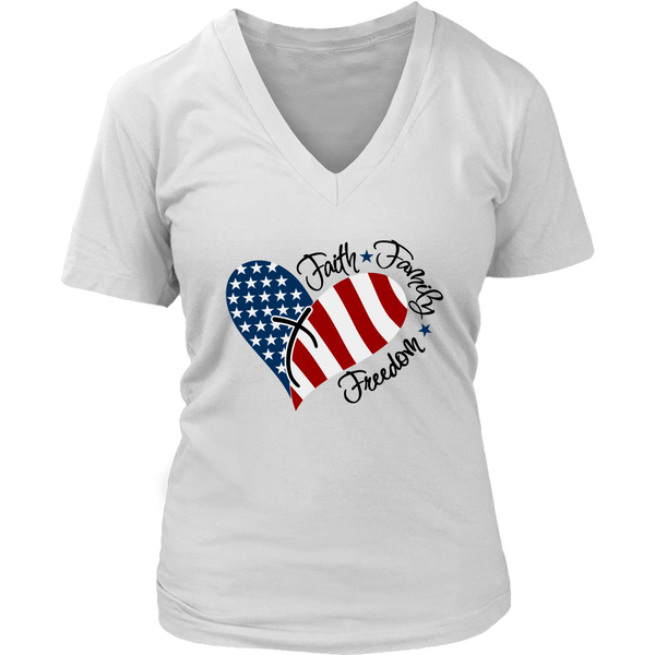 Faith Family Freedom VNeck