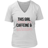 Runs on Caffeine & Sarcasm VNeck