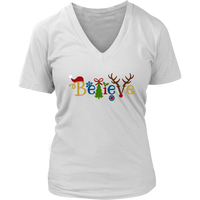 Believe Christmas VNeck
