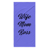 Wife Mom Boss Beach Towel