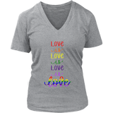 Love is Love Rainbow VNeck