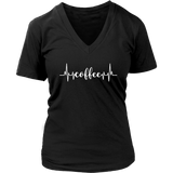 Coffee Heartbeat VNeck