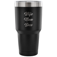 Wife Boss Mom Tumbler