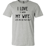 I love My Wife/Golf T-Shirt