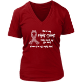 This is My Fight Shirt - Cancer Awareness VNeck