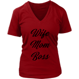 Wife Mom Boss VNeck