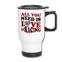 Love & Racing Travel Mug - white