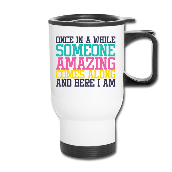 Someone Amazing Travel Mug - white