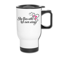 She Flies Travel Mug - white