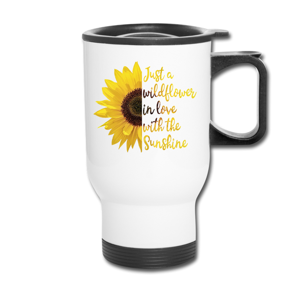 Wildflower Travel Mug - white