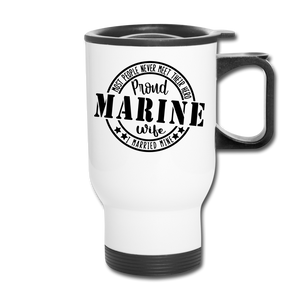 Proud Marine Wife - white