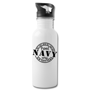 Proud Navy Wife - white