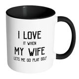 I Love My Wife/Golf Mug