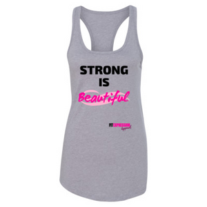 STRONG IS BEAUTIFUL IDEAL RACERBACK
