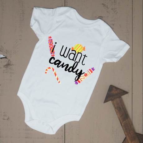 I Want Candy Bodysuit - Vintage Outcast